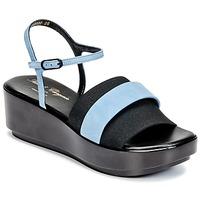 Cipők Női Szandálok / Saruk Robert Clergerie PODDY Fekete  / Kék