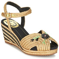 Cipők Női Szandálok / Saruk Miss L'Fire RENEE Arany