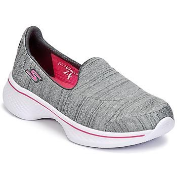 Cipők Lány Belebújós cipők Skechers GO WALK 4 Szürke