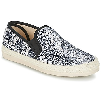 Cipők Női Gyékény talpú cipők Spiral VIRGINIA Fekete  / Fehér
