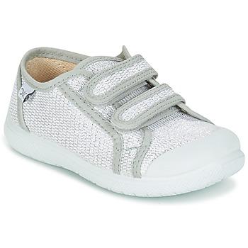 Cipők Lány Rövid szárú edzőcipők Citrouille et Compagnie GLASSIA Ezüst