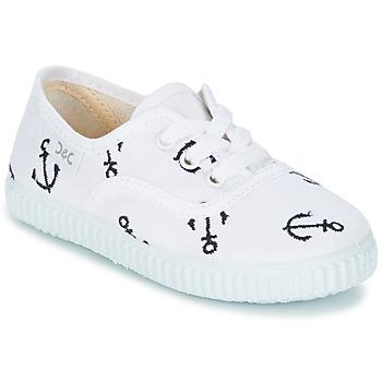 Cipők Gyerek Rövid szárú edzőcipők Citrouille et Compagnie KIPPI BOU Fehér / Kék