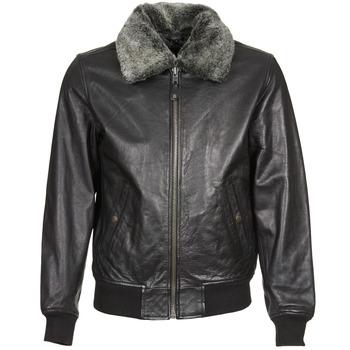 Ruhák Férfi Bőrkabátok / műbőr kabátok Schott FELIATO Fekete