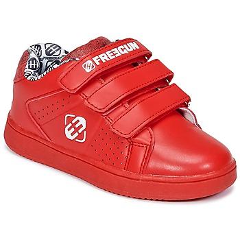 Cipők Gyerek Rövid szárú edzőcipők Freegun FG ULSPORT Piros / Fehér