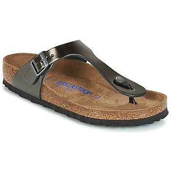 Cipők Női Lábujjközös papucsok Birkenstock GIZEH SFB Szürke / Fémes