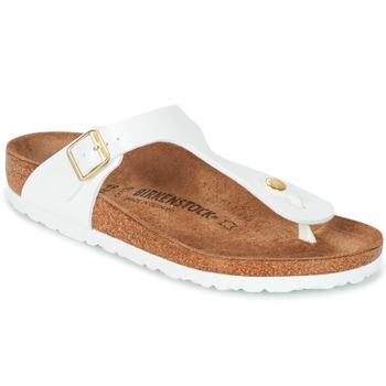Cipők Női Lábujjközös papucsok Birkenstock GIZEH Fehér / Arany