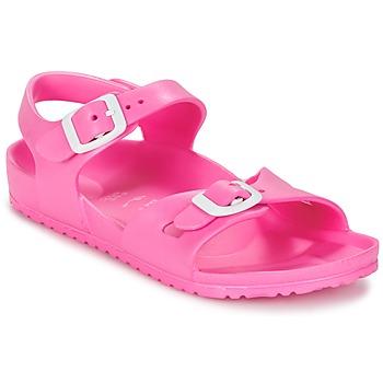 Shoes Gyerek Szandálok / Saruk Birkenstock RIO EVA Rózsaszín / Fluoreszkáló