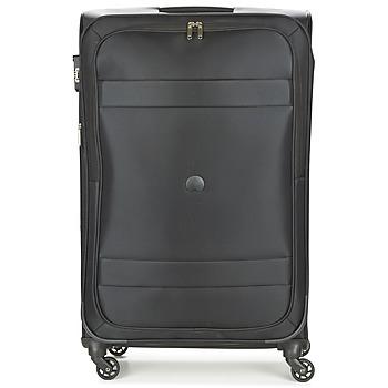 Táskák Puha bőröndök Delsey INDISCRETE 4R 78CM Fekete