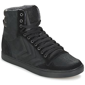 Shoes Magas szárú edzőcipők Hummel TEN STAR MONO OILED IG Fekete / Fekete