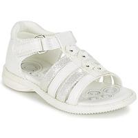 Cipők Lány Szandálok / Saruk Chicco CAROTA Fehér / Ezüst