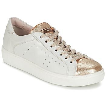 Cipők Női Rövid szárú edzőcipők Tosca Blu  Fehér / Arany