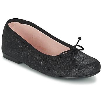 Cipők Lány Balerina cipők / babák Citrouille et Compagnie GLIGLO Fekete  / Fényes