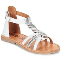 Shoes Lány Szandálok / Saruk Citrouille et Compagnie GITANOLO Fehér / Ezüst