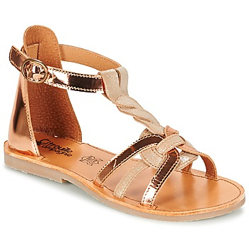 Shoes Lány Szandálok / Saruk Citrouille et Compagnie GITANOLO Bézs / Rezes