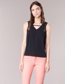 material Női Trikók / Ujjatlan pólók Naf Naf OPIPA Fekete