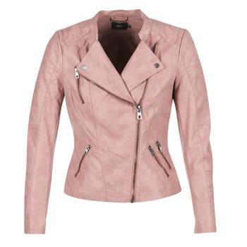 Ruhák Női Bőrkabátok / műbőr kabátok Only AVA Rózsaszín