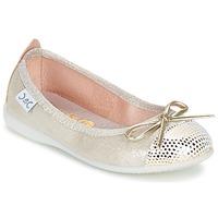 Cipők Lány Balerina cipők / babák Citrouille et Compagnie GRAGON Bézs / Fényes