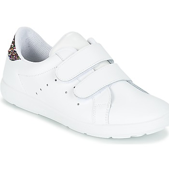 Shoes Lány Rövid szárú edzőcipők Citrouille et Compagnie GRANOU Fehér / Fényes
