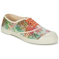 Cipők Női Rövid szárú edzőcipők Bensimon TENNIS FEUILLES EXOTIQUES Ekrü / Narancssárga / Zöld