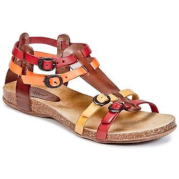 Shoes Női Szandálok / Saruk Kickers ANA Barna / Piros / Narancssárga
