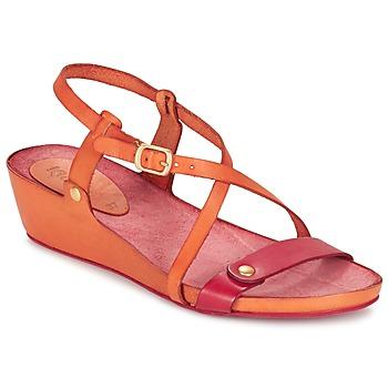 Cipők Női Szandálok / Saruk Kickers TASTE Narancssárga / Piros