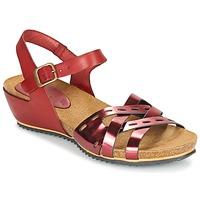 Cipők Női Szandálok / Saruk Kickers TOKANNE Piros / Fémes
