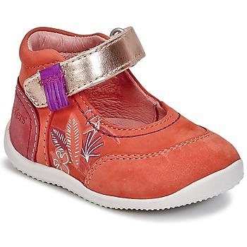 Shoes Lány Balerina cipők / babák Kickers BIMAMBO Narancssárga / Fukszia / Rózsaszín