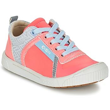 Cipők Lány Rövid szárú edzőcipők Kickers ZIGUY Korall / Kék