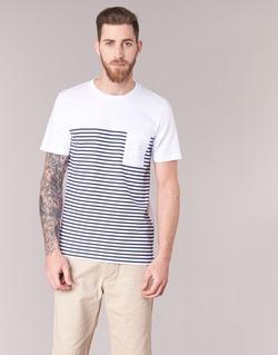 material Férfi Rövid ujjú pólók Jack & Jones APRIL CORE Fehér / Tengerész