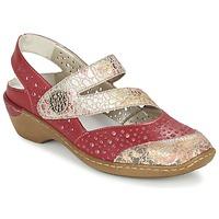 Cipők Női Szandálok / Saruk Rieker KOLIPEDI Piros / Arany