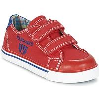 Cipők Fiú Rövid szárú edzőcipők Pablosky LIVABI Piros