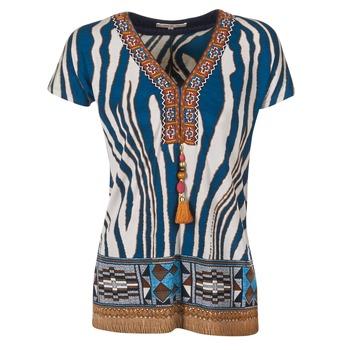 Ruhák Női Rövid ujjú pólók Derhy JAQUERIE Kék