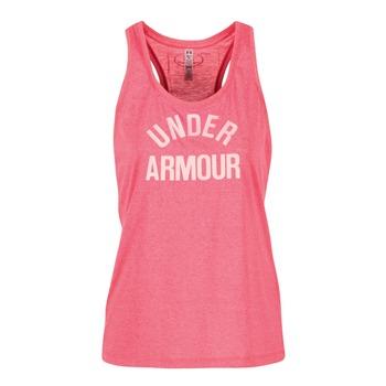 Ruhák Női Trikók / Ujjatlan pólók Under Armour THREADBORNET TWIST GRAPHIC Rózsaszín