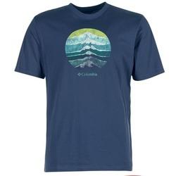 Ruhák Férfi Rövid ujjú pólók Columbia CSC MOUNTAIN SUNSET Kék
