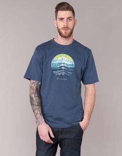 material Férfi Rövid ujjú pólók Columbia CSC MOUNTAIN SUNSET Kék