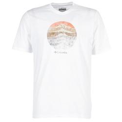material Férfi Rövid ujjú pólók Columbia CSC MOUNTAIN SUNSET Fehér