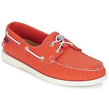 Cipők Férfi Vitorlás cipők Sebago DOCKSIDES ARIAPRENE Narancssárga / ARIAPRENE