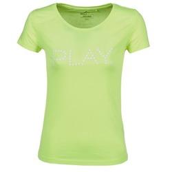 Ruhák Női Rövid ujjú pólók Only Play BASIC Citromsárga