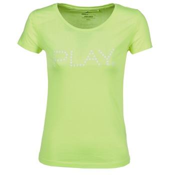 material Női Rövid ujjú pólók Only Play BASIC Citromsárga