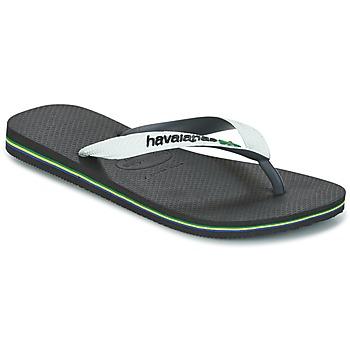 Cipők Lábujjközös papucsok Havaianas BRASIL MIX Fehér / Fekete