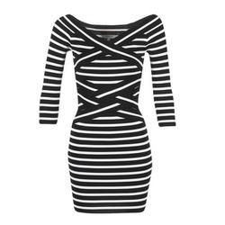 Ruhák Női Rövid ruhák Morgan RBEST Fekete  / Ekrü
