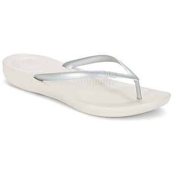Cipők Női Lábujjközös papucsok FitFlop IQUSHION ERGONOMIC FLIP-FLOPS Ezüst