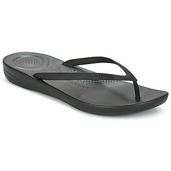 Shoes Női Lábujjközös papucsok FitFlop IQUSHION ERGONOMIC FLIP FLOP Minden / Fekete