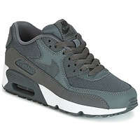 Cipők Fiú Rövid szárú edzőcipők Nike AIR MAX 90 MESH GRADE SCHOOL Szürke