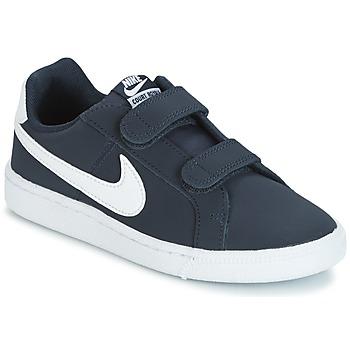 Cipők Fiú Rövid szárú edzőcipők Nike COURT ROYALE PRESCHOOL Kék / Fehér