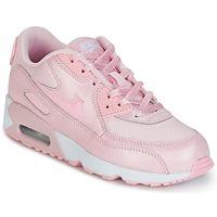Cipők Lány Rövid szárú edzőcipők Nike AIR MAX 90 MESH SE PRESCHOOL Rózsaszín