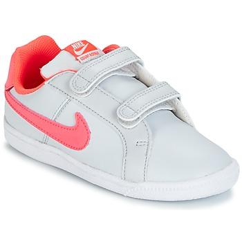 Cipők Lány Rövid szárú edzőcipők Nike COURT ROYALE TODDLER Szürke / Rózsaszín