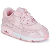 Cipők Lány Rövid szárú edzőcipők Nike AIR MAX 90 MESH SE TODDLER Rózsaszín