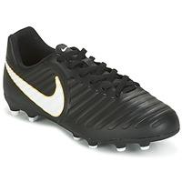 Cipők Gyerek Foci Nike TIEMPO RIO IV FG JUNIOR Fekete  / Fehér