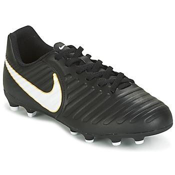 Shoes Gyerek Foci Nike TIEMPO RIO IV FG JUNIOR Fekete  / Fehér
